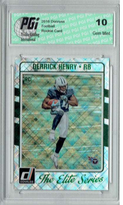 Derrick Henry 2016 Donruss Elite Series #24 SP, 999 Made Rookie Card PGI 10