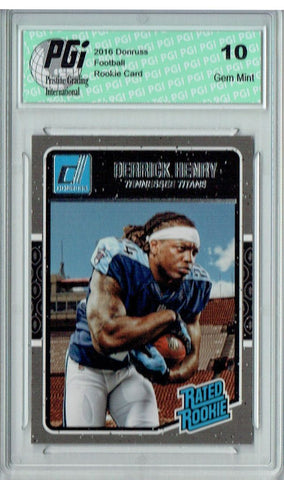 Derrick Henry 2016 Donruss Rated Rookie #365 SP Rookie Card PGI 10