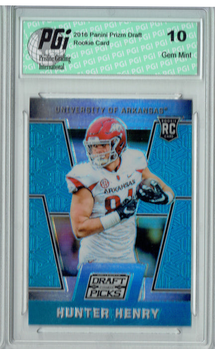 Hunter Henry 2016 Prizm Draft Picks #113 Blue SP Rookie Card PGI 10
