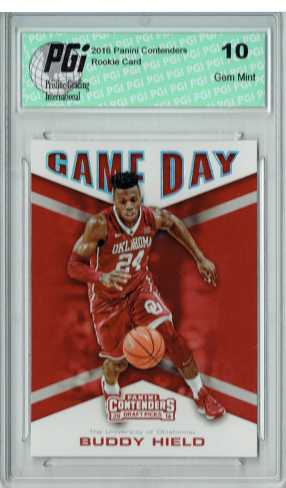 Buddy Hield 2016 Panini Contenders #4 Game Day Rookie Card PGI 10