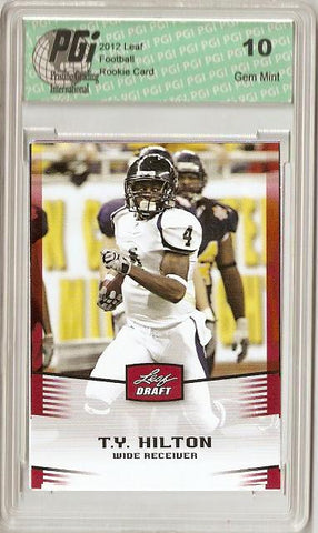 Ty Hilton 2012 Leaf Football NFL Rookie Card PGI 10 Gem Mint