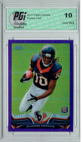 DeAndre Hopkins 2013 Topps Chrome #/499 Purple Refractor Rookie Card PGI 10