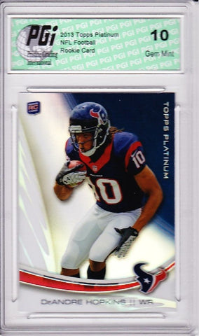 DeAndre Hopkins Texans 2013 Topps Platinum #122 Refractor Rookie Card PGI 10