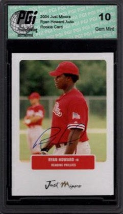 RYAN HOWARD 2004 Just Minors Auto Autograph Rookie Card