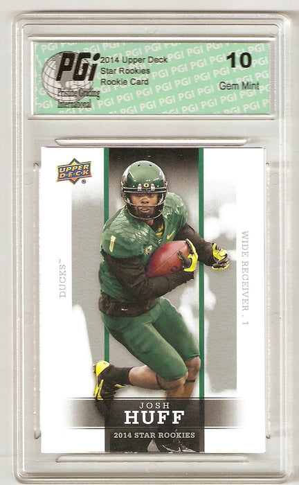 Josh Huff 2014 Upper Deck #33 SP Star Rookie Card PGI 10