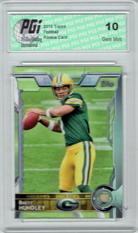 Brett Hundley 2015 Topps Football #447  Green Bay Packers Rookie Card PGI 10