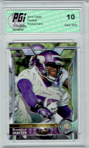 Danielle Hunter 2015 Topps Football #443 Minnesota Vikings Rookie Card PGI 10