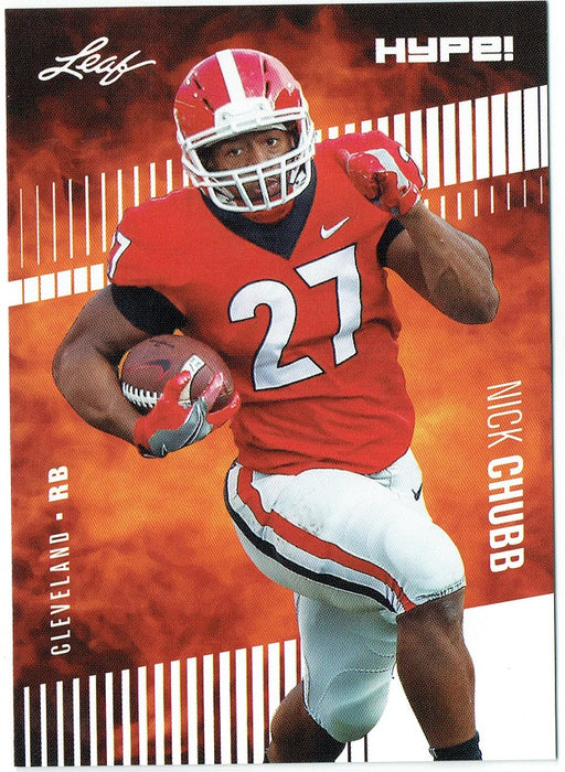 Nick Chubb 2018 Leaf HYPE! Football Rookie 25 Card Lot Cleveland Browns #9