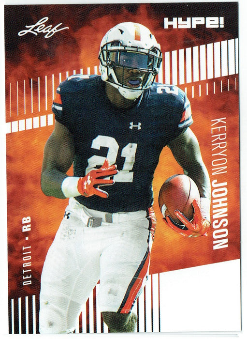 Kerryon Johnson 2018 Leaf HYPE! Football Rookie 25 Card Lot Detroit Lions #14