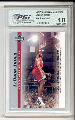 LeBron James 2003 PHENOM Set PGI 10 Rookie Card #18 Labron RC