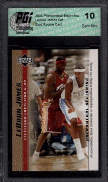 LeBron James 2003 Upper Deck GOLD PHENOMENAL BEGINNING Rookie Card PGI 10 #9