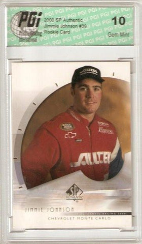 Jimmie Johnson 2000 UD SP Authentic Rookie Card PGI 10
