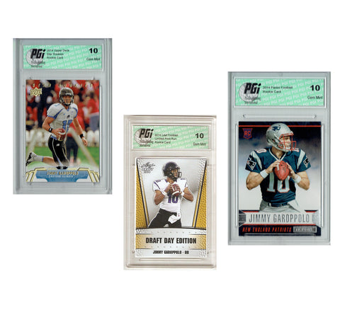 Jimmy Garoppolo QB 2014 Rookie Card 3-Pack PGI 10