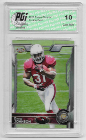 David Johnson 2015 Topps Chrome Rookie Card #177 PGI 10 Cardinals