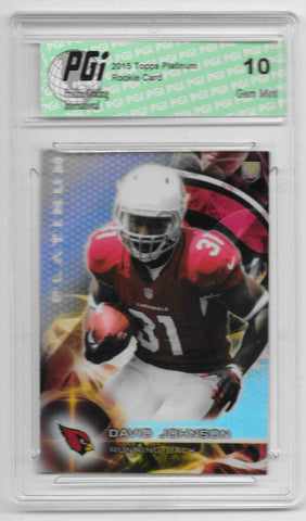 David Johnson 2015 Topps Platinum Refractor Rookie Card #130 PGI 10 Cards