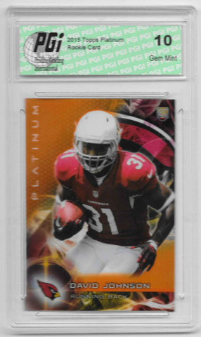 David Johnson 2015 Topps Platinum Orange Refractor Rookie Card #130 PGI 10