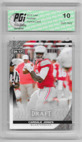 Cardale Jones 2016 Leaf Draft #11 Rookie Card PGI 10 OSU Buckeyes