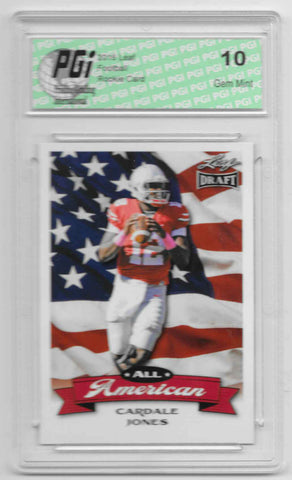 Cardale Jones 2016 All-American Leaf Draft #AA01 Rookie Card PGI 10
