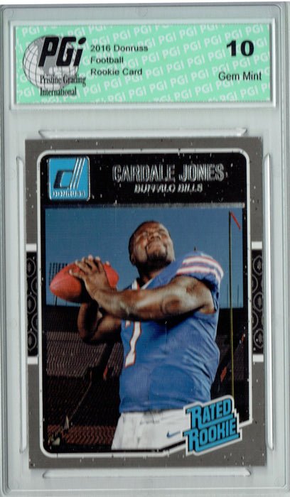 Cardale Jones 2016 Donruss Rated Rookie #355 SP Rookie Card PGI 10
