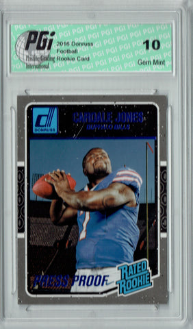 Cardale Jones 2016 Donruss Rated Rookie #355 Press Proof Rookie Card PGI 10