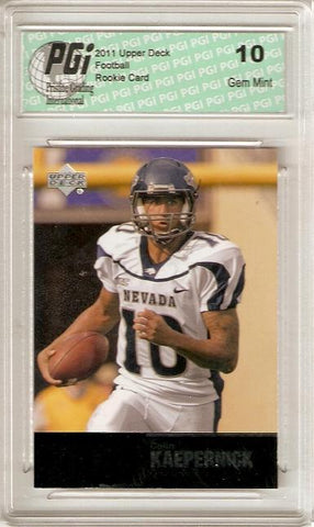 Colin Kaepernick 2011 Upper Deck College Legends #84 Rookie Card PGI 10