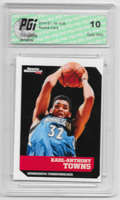 Karl-Anthony Towns 2016 S.I. KIds #515 Rookie Card PGI 10