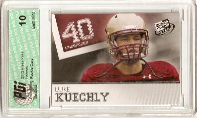 GOLD Luke Kuechly SP 2012 Press Pass First Licensed Rookie Card PGI 10