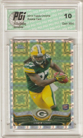 Eddie Lacy Lacey 2013 Topps Chrome X-FRACTOR #131 Rookie Card PGI 10