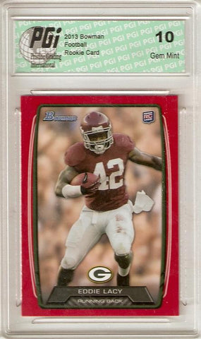 Eddie Lacy 2013 Bowman Red SP Only 199 Made Rookie Card PGI 10
