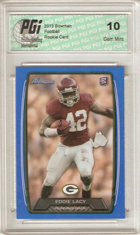 Eddie Lacy 2013 Bowman Blue SP Packers Alabama Only 399 Made Rookie Card PGI 10