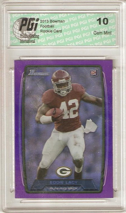 Eddie Lacy 2013 Bowman Purple Refractor SP Super Short Print Rookie Card PGI 10