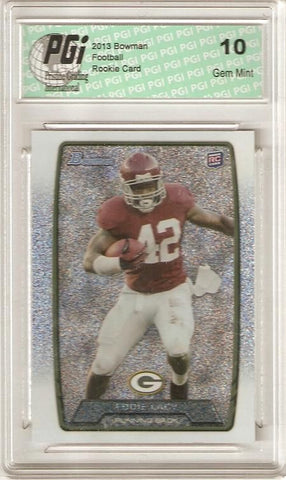 Eddie Lacy 2013 Bowman Silver Ice SP Ultra Rare Packers Made Rookie Card PGI 10