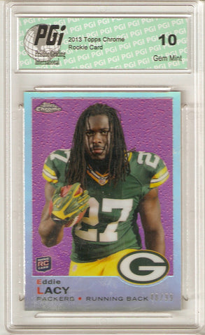 Eddie Lacy Lacey 2013 Topps Chrome Retro Refactor #48/99 Made Rookie Card PGI 10