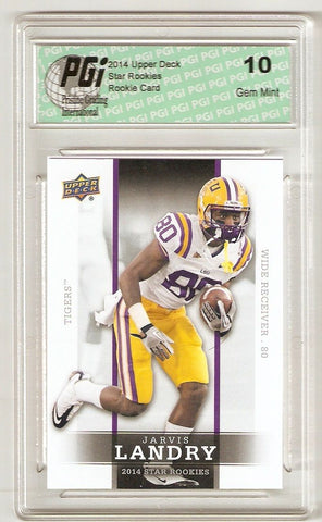 Jarvis Landry 2014 Upper Deck #28 SP Star Rookie Card PGI 10