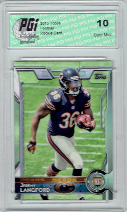 Jeremy Langford 2015 Topps Football #471  Chicago Bears Rookie Card PGI 10