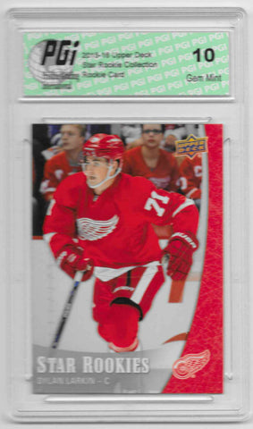 Dylan Larkin 2015-16 Upper Deck Star Rookies #12 Rookie Card PGI 10