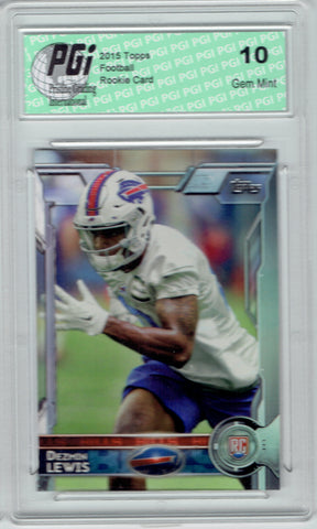Dezmin Lewis 2015 Topps Football #458  Buffalo Bills Rookie Card PGI 10