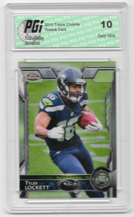 Tyler Lockett 2015 Topps Chrome #178 Rookie Card PGI 10