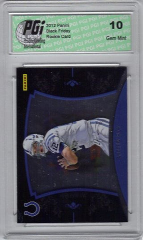 Andrew Luck 2012 Panini Black Friday Only 599 Made Rookie Card PGI 10