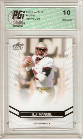 E.J. Manuel 2013 Leaf Football #20 Bills FSU Rookie Card PGI 10