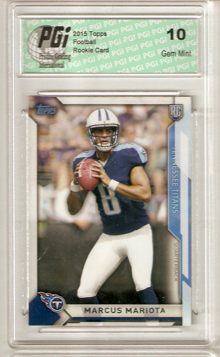 Marcus Mariota 2015 Topps Take it to the House #1 Rookie Card PGI 10