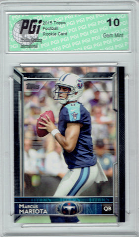 Marcus Mariota 2015 Topps Football Factory SP  #429 Rookie Card PGI 10
