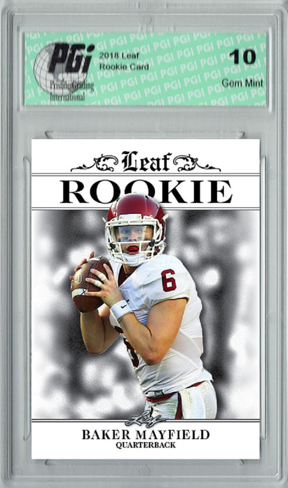 Baker Mayfield 2018 Leaf Exclusive Rookie Card 10-CARD LOT RA01 4999 Made PGI 10