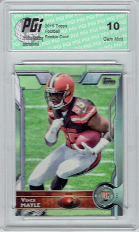 Vince Mayle 2015 Topps Football #474 Cleveland Browns Rookie Card PGI 10