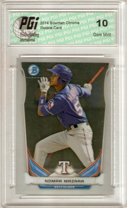 Nomar Mazara 2014 Bowman Chrome #BCP85 Rookie Card PGI 10