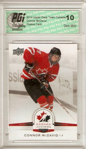 Connor McDavid 2014 Upper Deck Team Canada #99 Rookie Card PGI 10