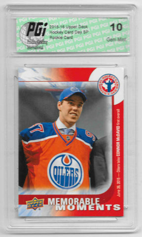 2015-16 Connor McDavid Upper Deck Memorable Moments Rookie Card #6 PGI 10
