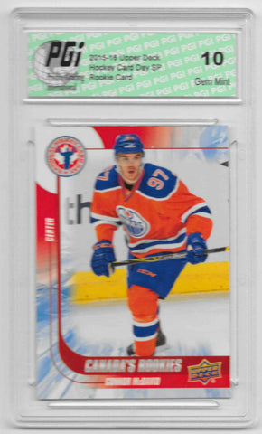 2015-16 Connor McDavid Upper Deck Hockey Day SP Rookie Card #16 PGI 10 Oilers