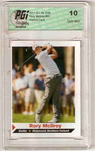 Rory McIlroy 2011 SI for Kids Golf Rookie Card PGI 10 s.i.