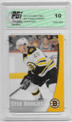 Colin Miller 2015-16 Upper Deck Star Rookies #9 Rookie Card PGI 10